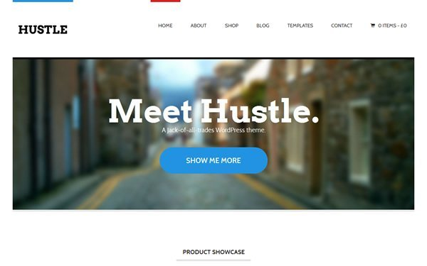 Hustle Theme Screenshot