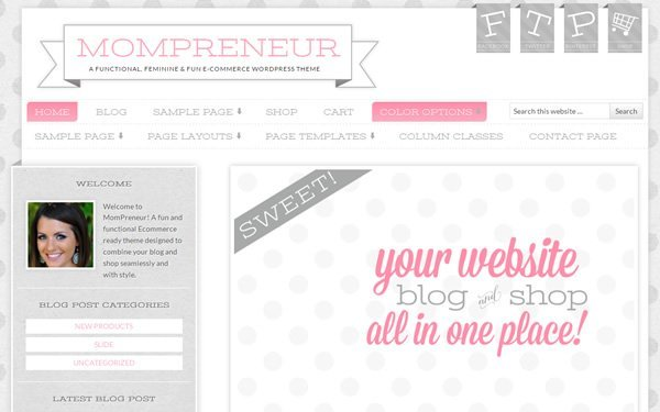 MomPreneur Theme Screenshot