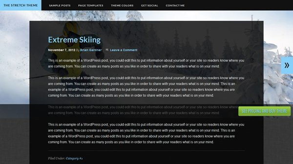 The Stretch Theme Screenshot