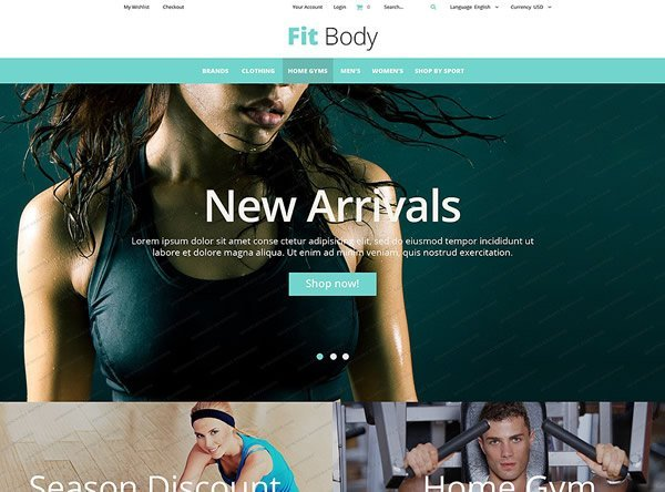 Fitness Store Screenshot