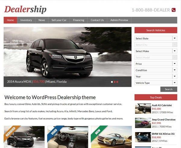 Car Dealership Theme Screenshot