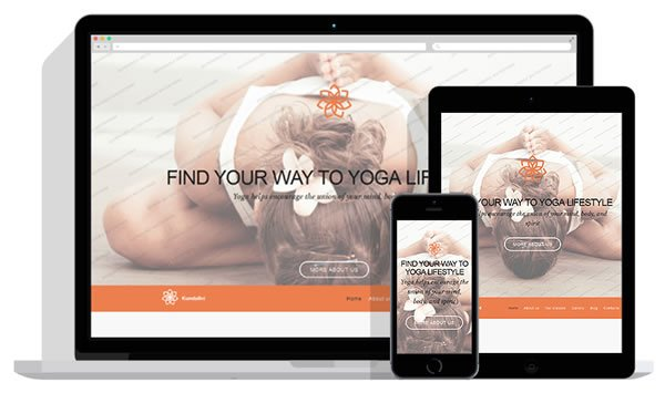 Yoga WordPress Theme Banner