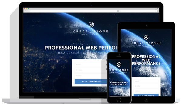 Landing Page Template Banner