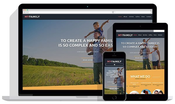 Family Center Joomla Template Banner