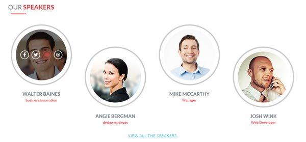 E-event - Event Speakers