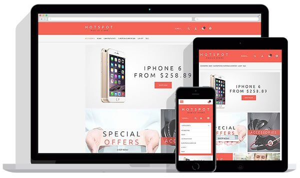 Template Monster: Free Mobile Shop OpenCart Theme - stubble IO