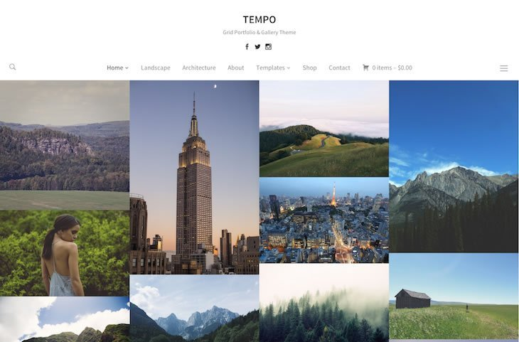 Tempo Portfolio WordPress Theme