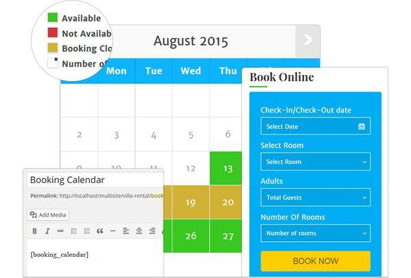 Booking Form & Availability Calendar