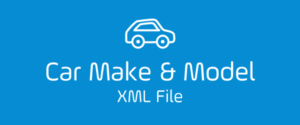 Car Make & Model XML File