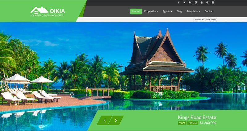 Oikia Real Estate WordPress Theme