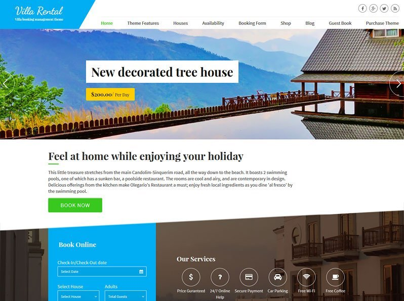 Villa Rental Screenshot