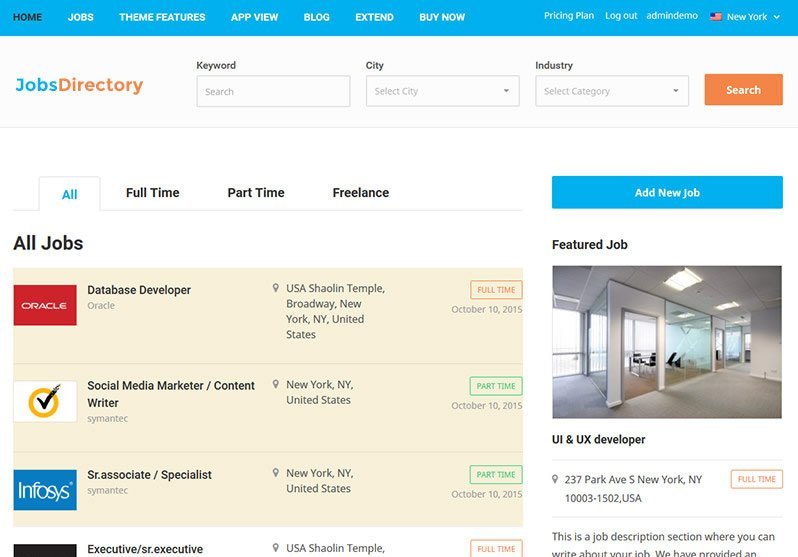 JobsDirectory WordPress Theme