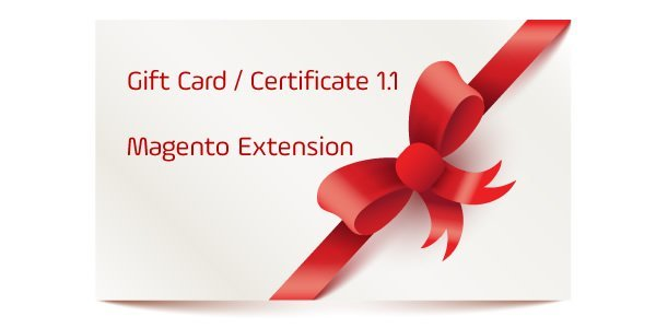 Gift Card / Certificate 1.1 Magento Extension