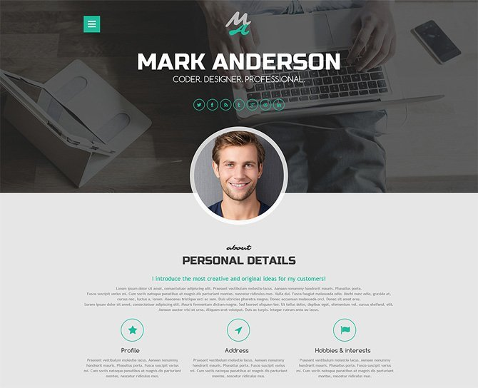 Mark Anderson Portfolio Theme