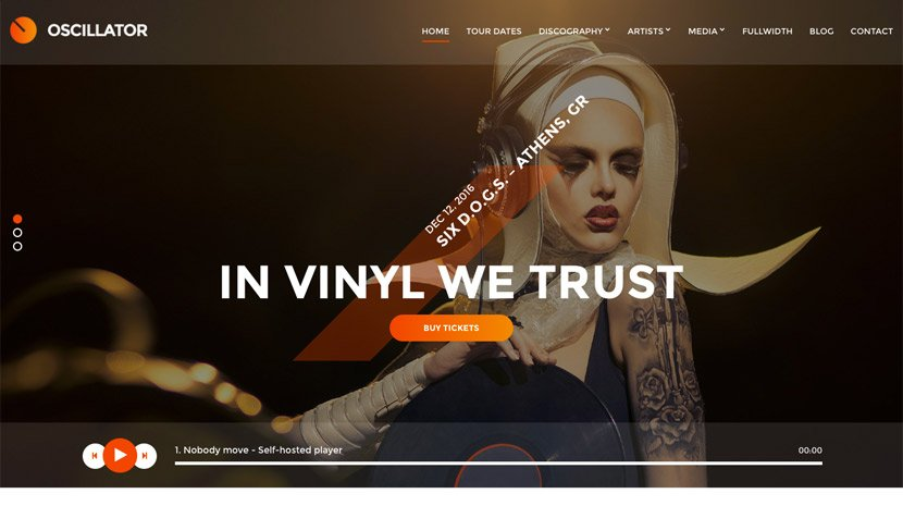 Oscillator Music WordPress Theme