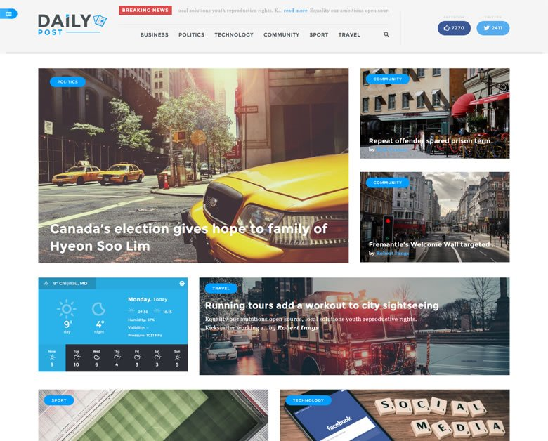 Daily Post WordPress Theme