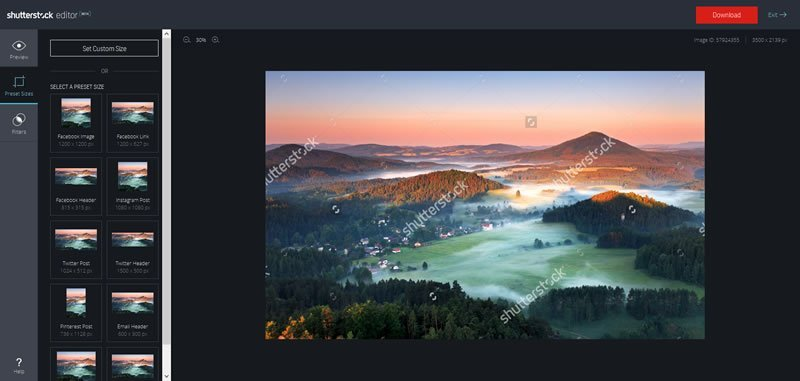 Shutterstock Editor Screenshot