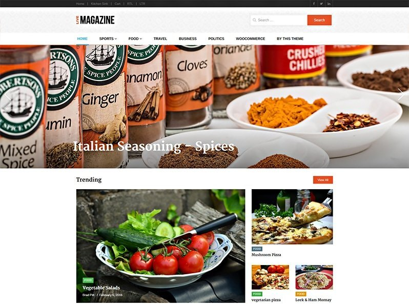 LiveMagazine WordPress Theme