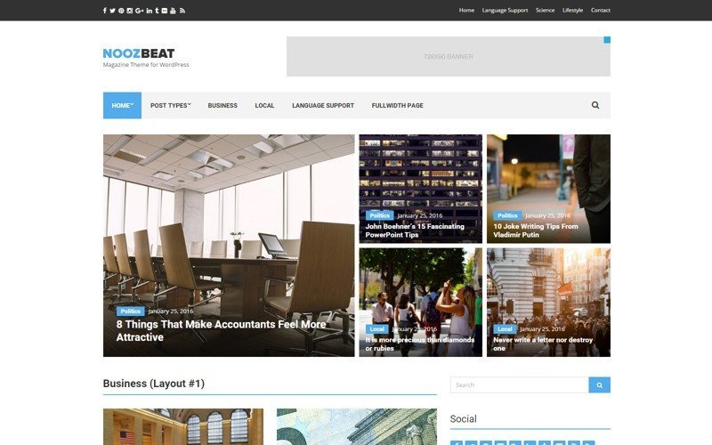 Noozbeat WordPress Theme