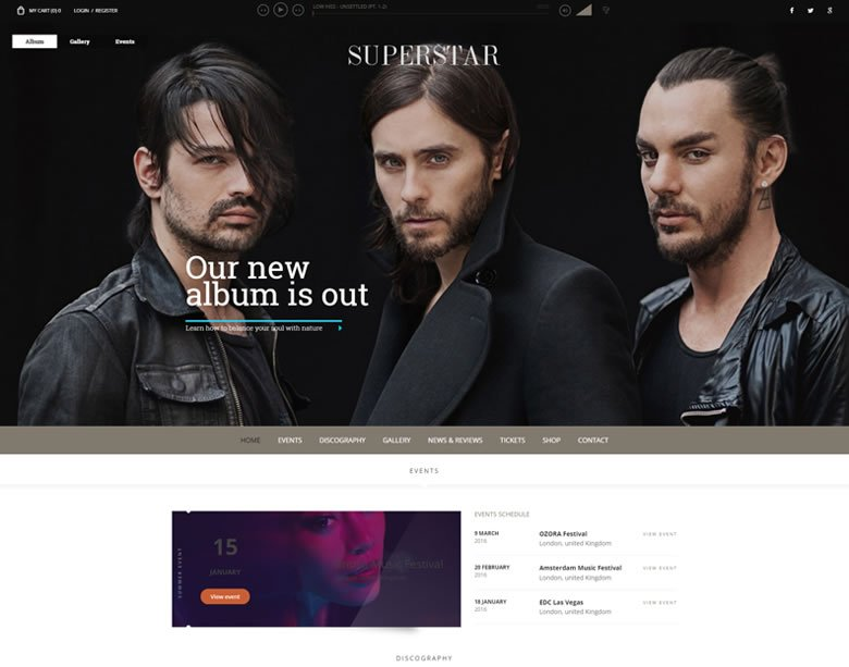 Superstar WordPress Theme