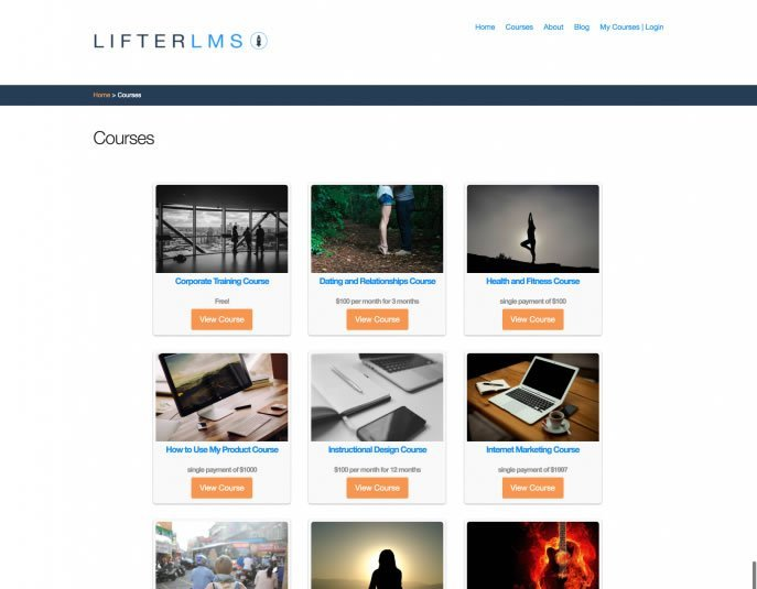 LifterLMS LaunchPad WordPress Theme