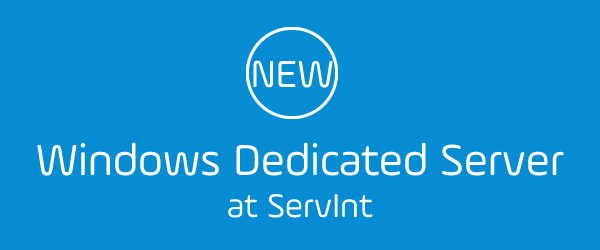 ServInt Windows Dedicated Servers