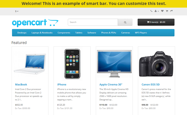 SmartBar OpenCart Extension