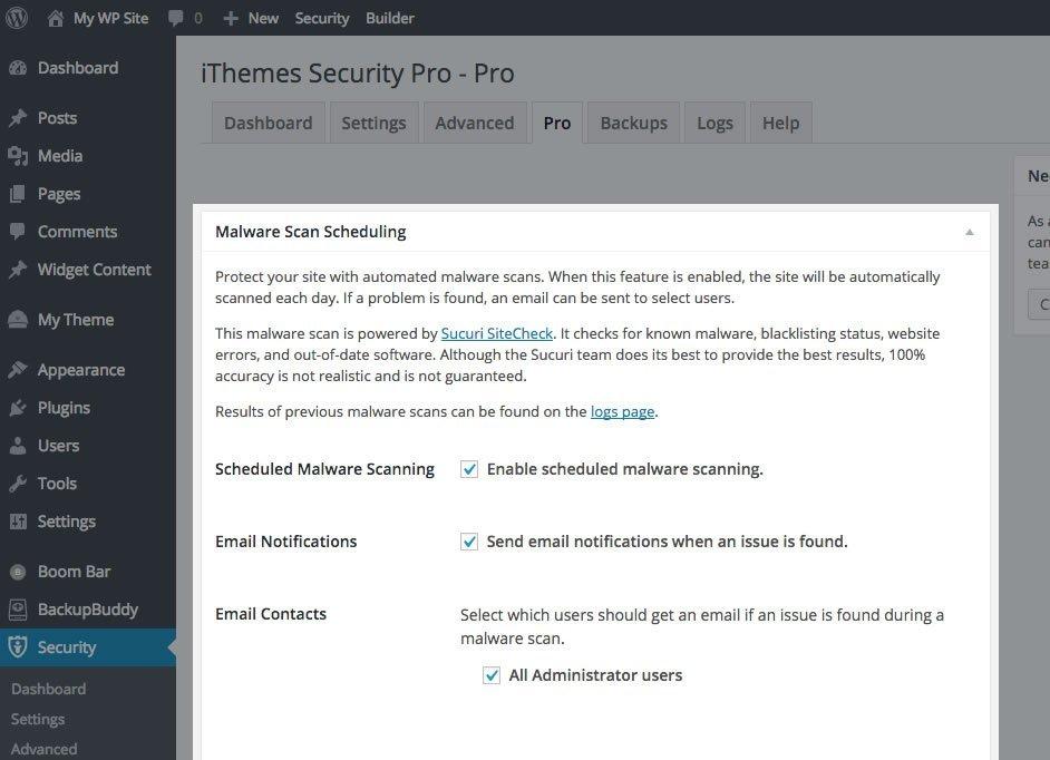 WordPress Malware Scanning