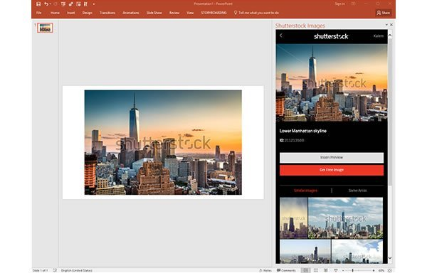 New Shutterstock PowerPoint Add-in