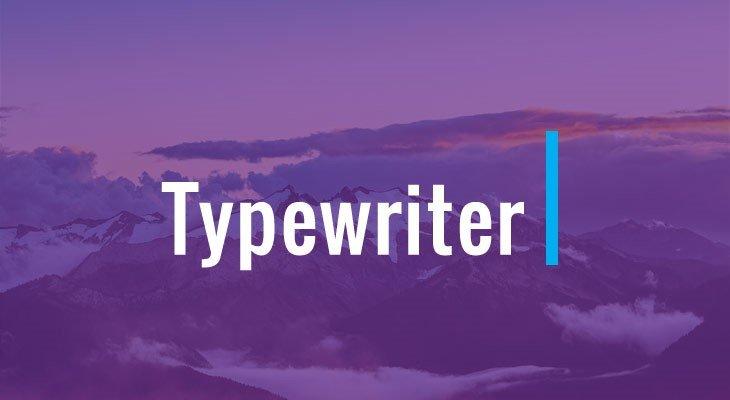 Typewriter Addon