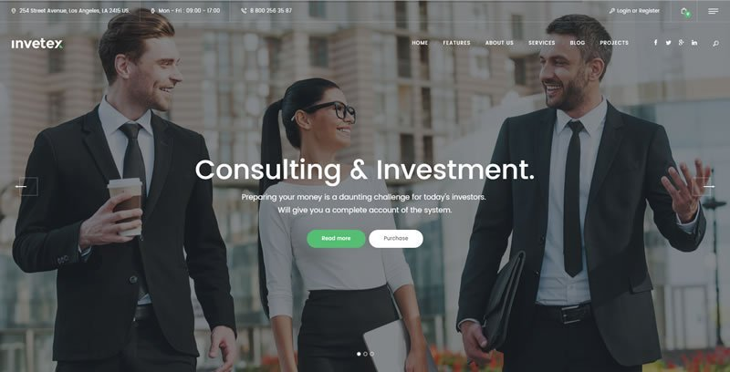 Invetex WordPress Consulting Theme