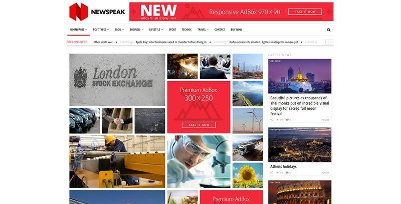 Newspeak WordPress News Theme
