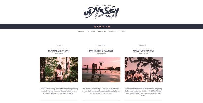 Odyssey  WordPress Personal Blog Theme