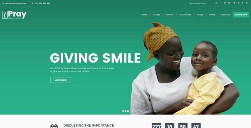 Pray WordPress Charity Theme