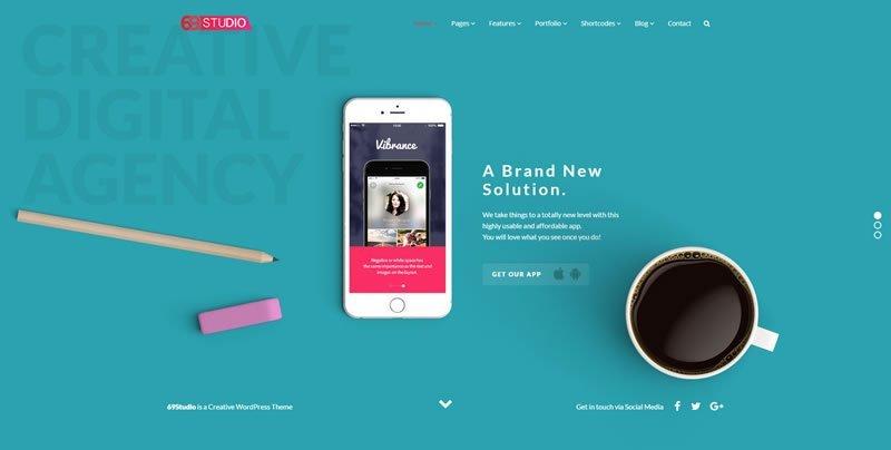 69Studio WordPress Creative Agency Theme