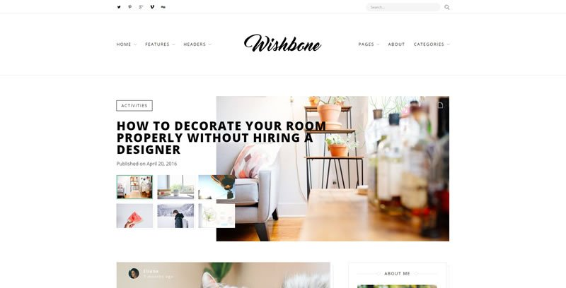 Wishbone WordPress Blog Theme
