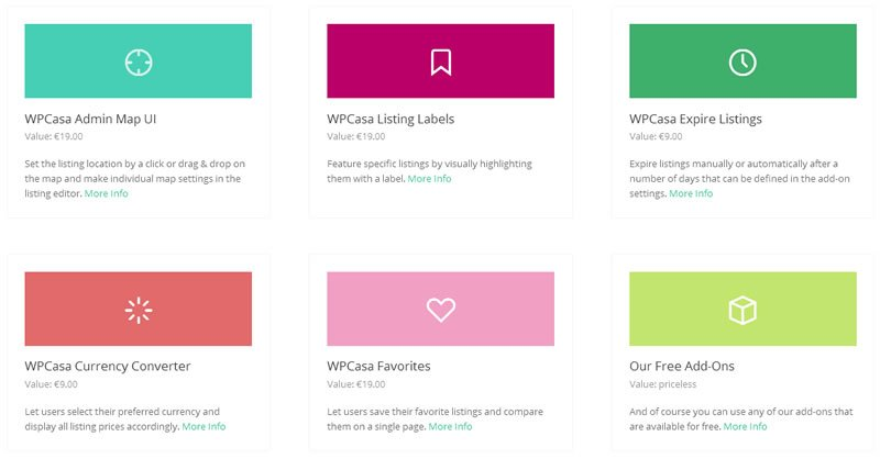 WPCasa - Paid & Free Add-ons