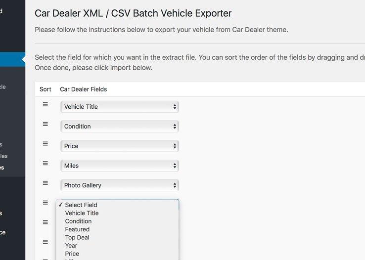 Car Dealer Batch Vehicle Exporter