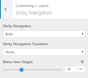 Sticky Navigation Height