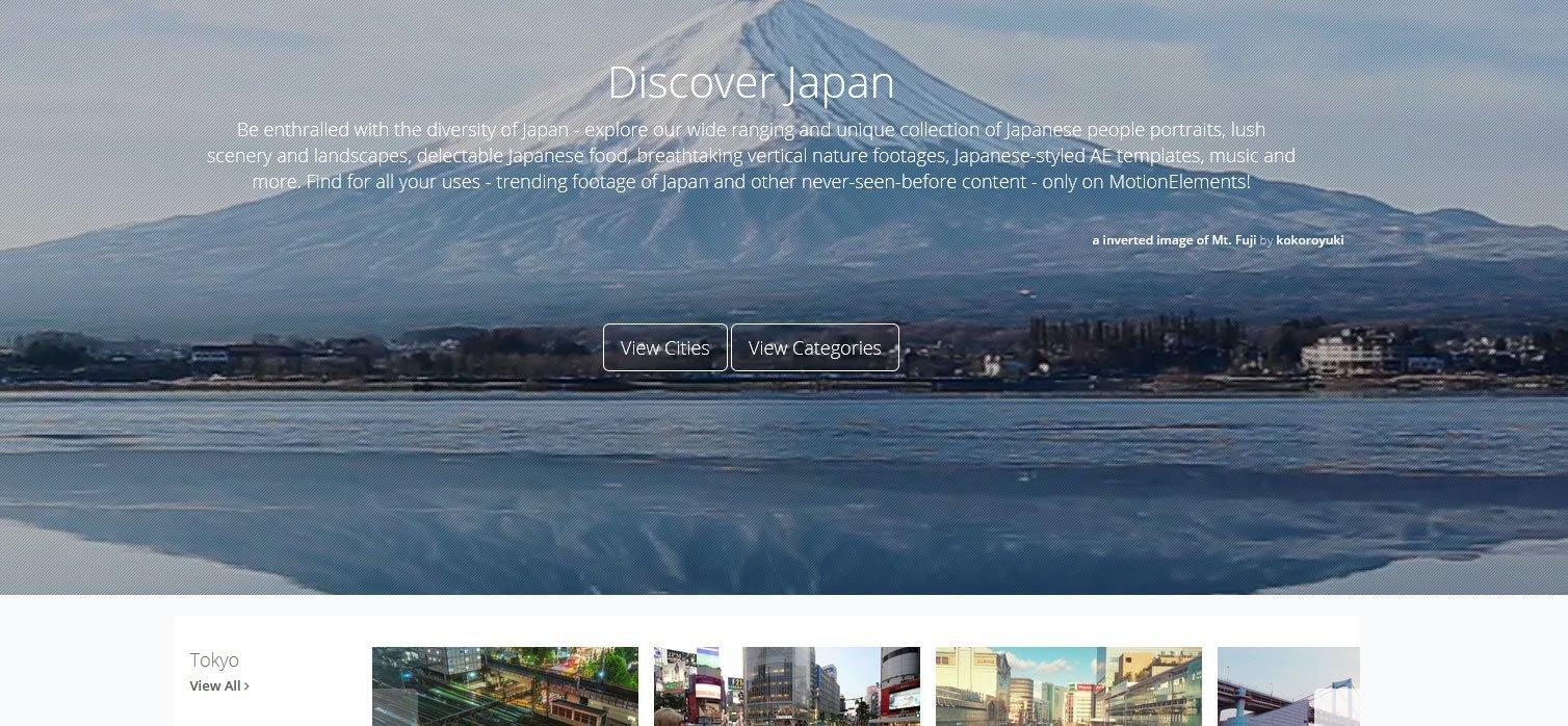 MotionElements Discover Japan