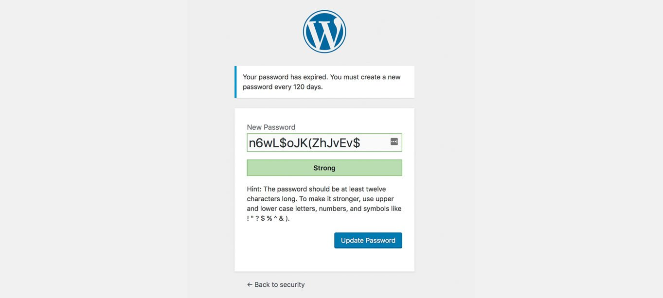 WordPress Password Security