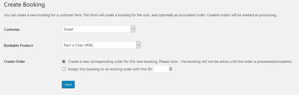 Manual Bookings 1