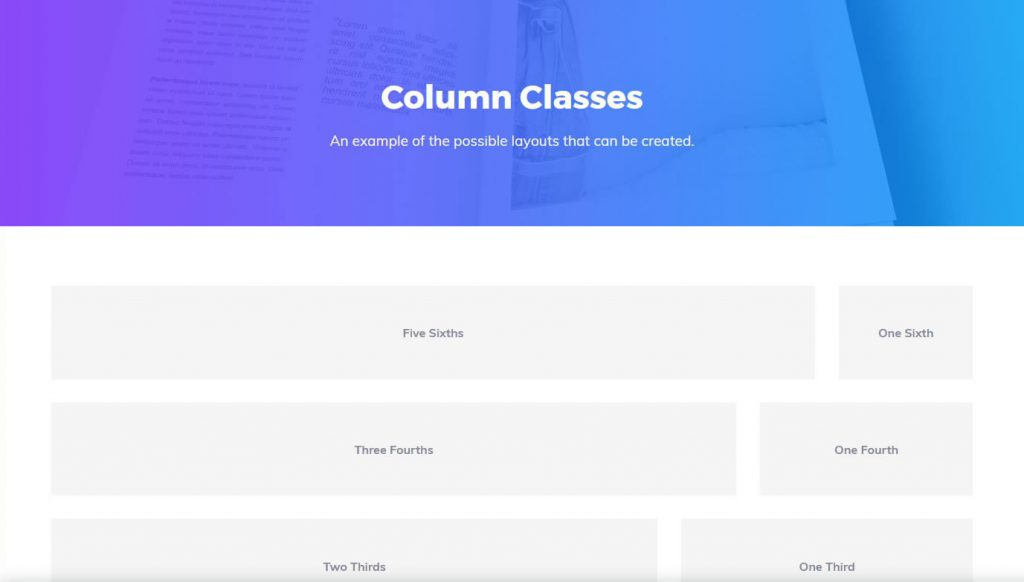 Column Layout Classes