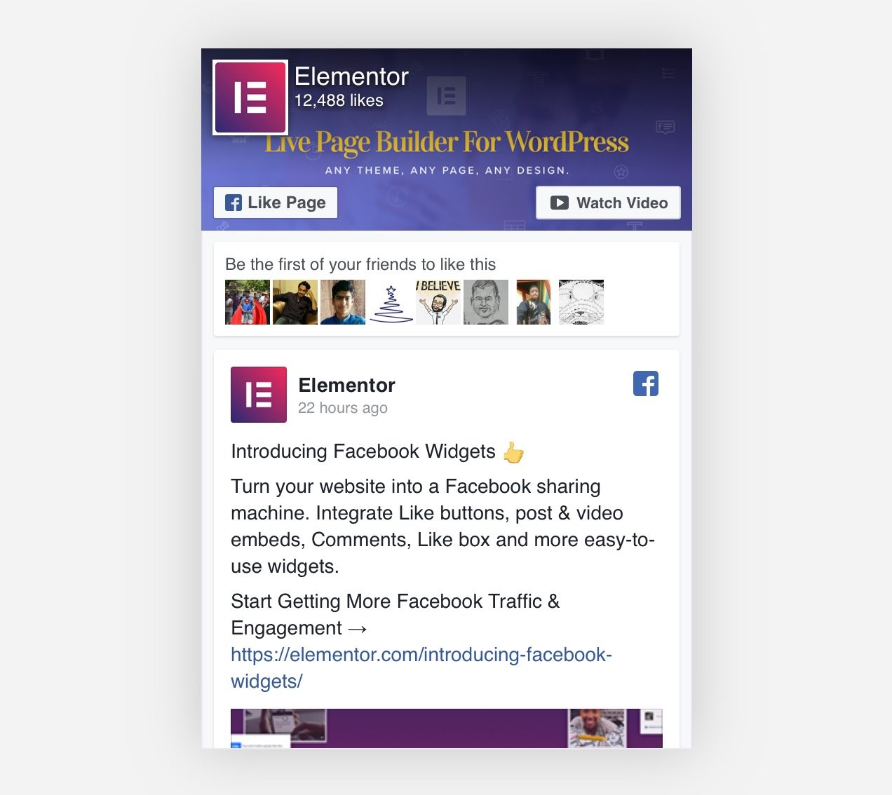 Elementor Pro: New Facebook Widgets For Getting More Social