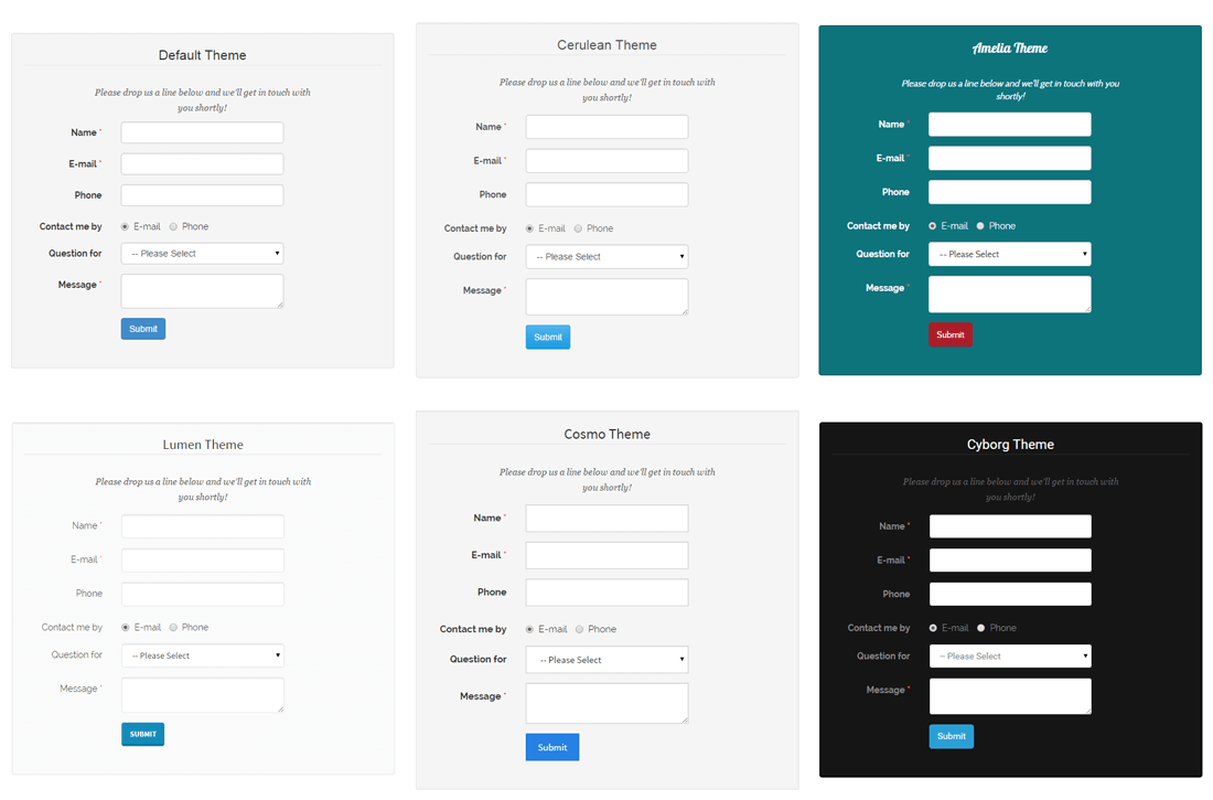 Custom Contact Forms