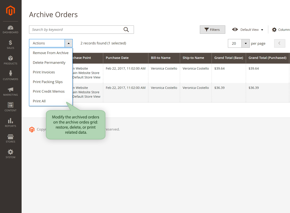 How To Completely Delete Or Archive Orders In Magento 2 - stubble IO