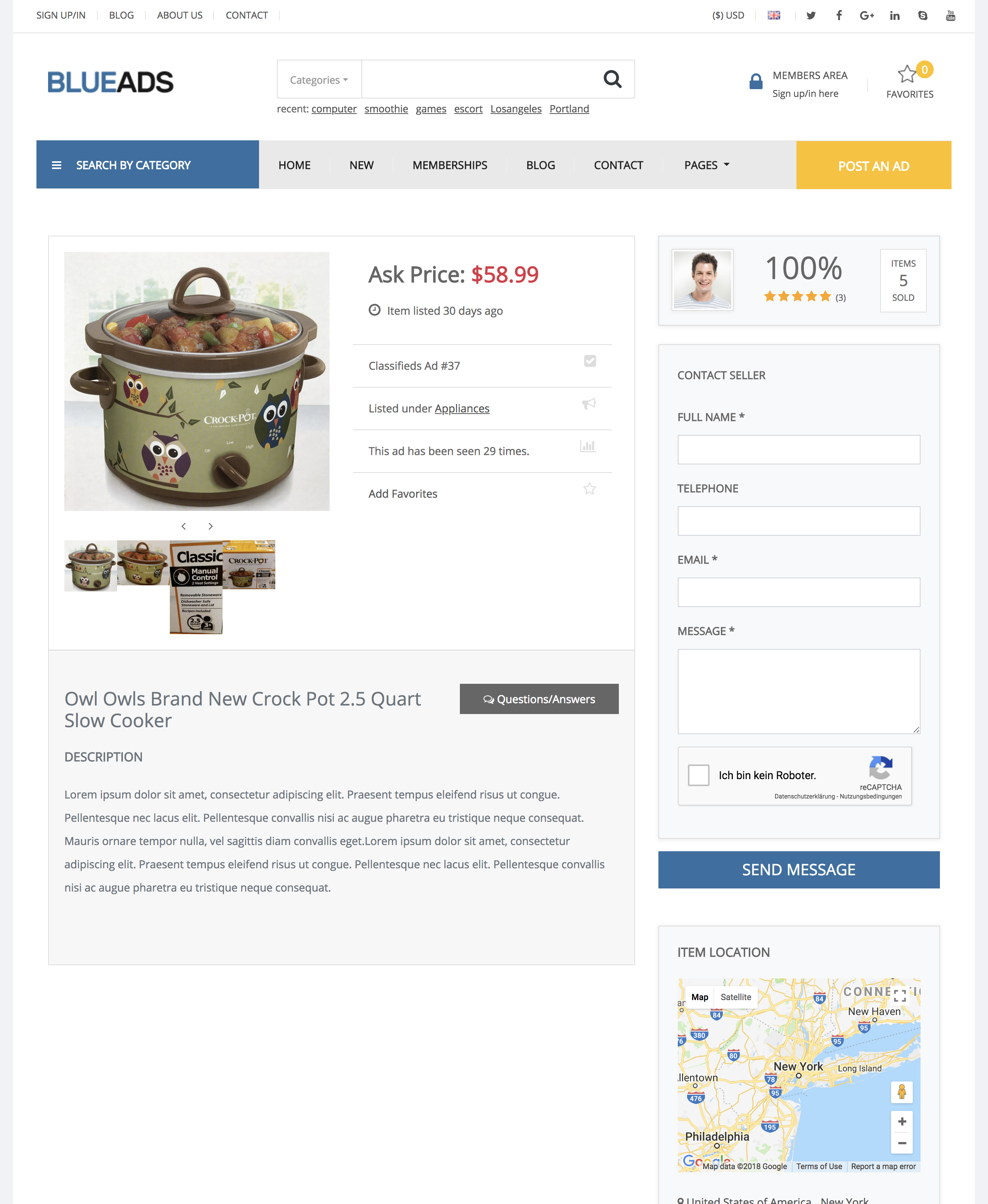 PremiumPress: New BlueAds Child Theme For The Classifieds