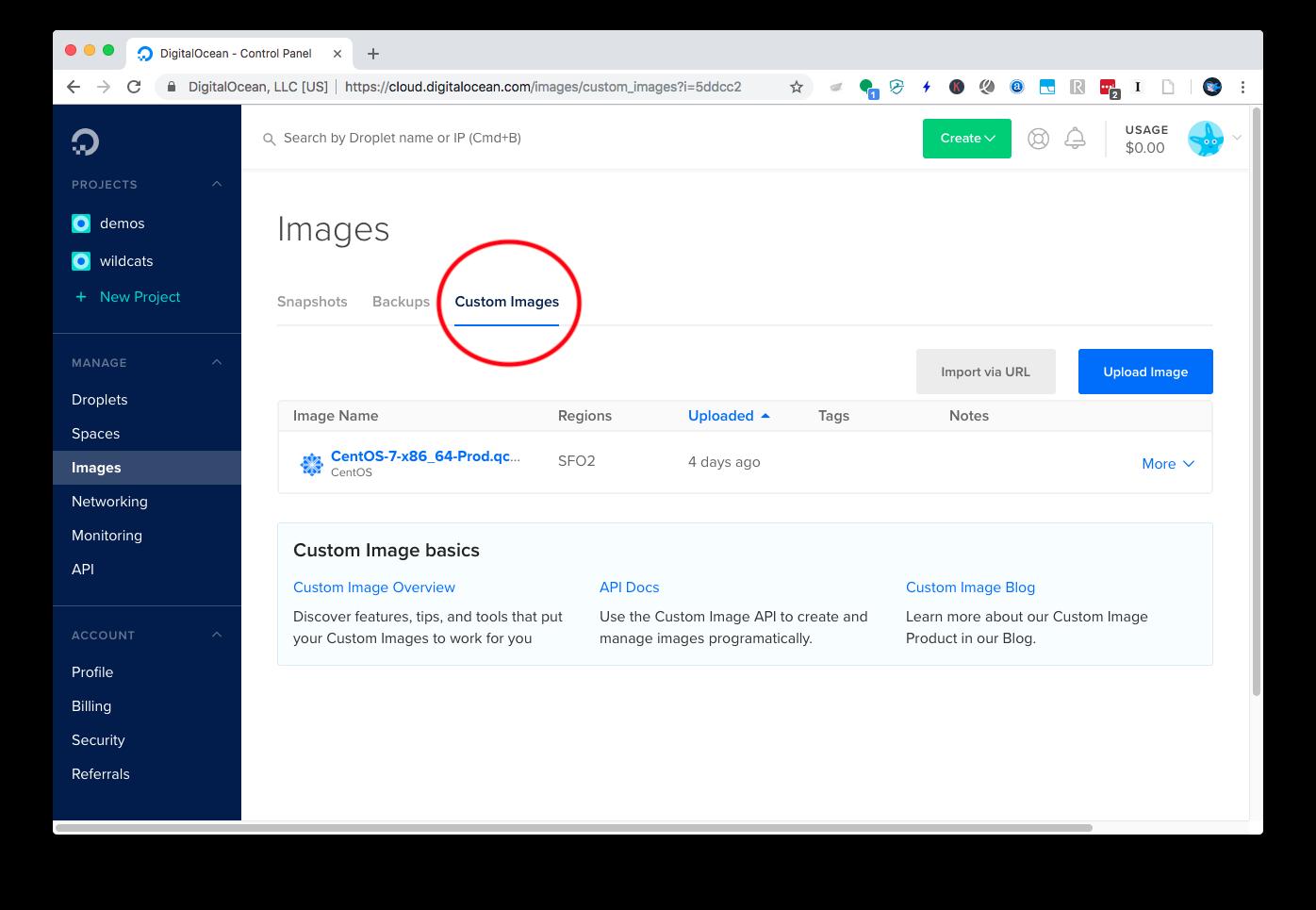 Custom OS Images