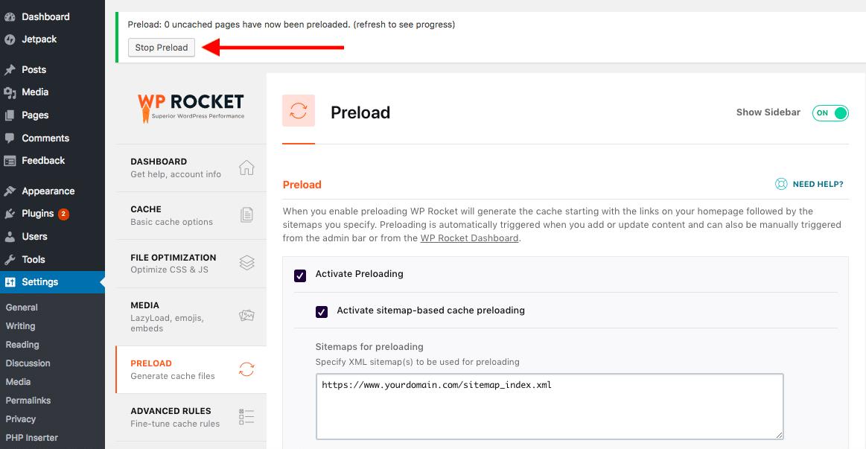 Preload System