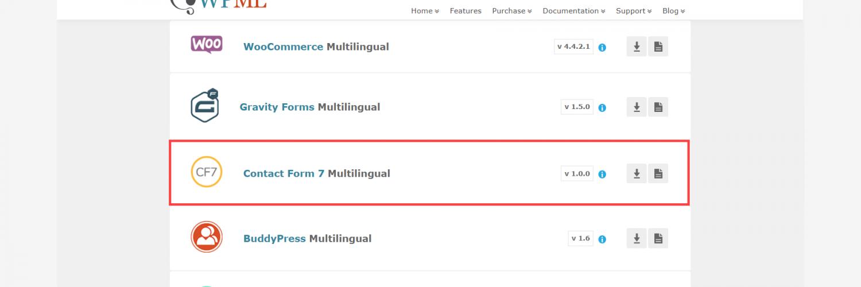 Contact Form 7 Multilingual